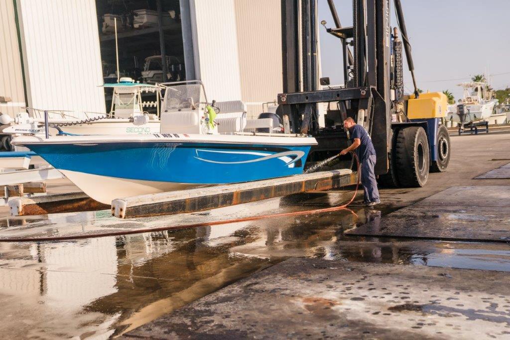 galveston yacht basin cleaning